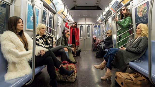 Sandra Bullock, Cate Blanchett, Rihanna, Mindy Kaling, Sarah Paulson, Anne Hathaway, Helena Bonham Carter and Awkwafina in Ocean's 8