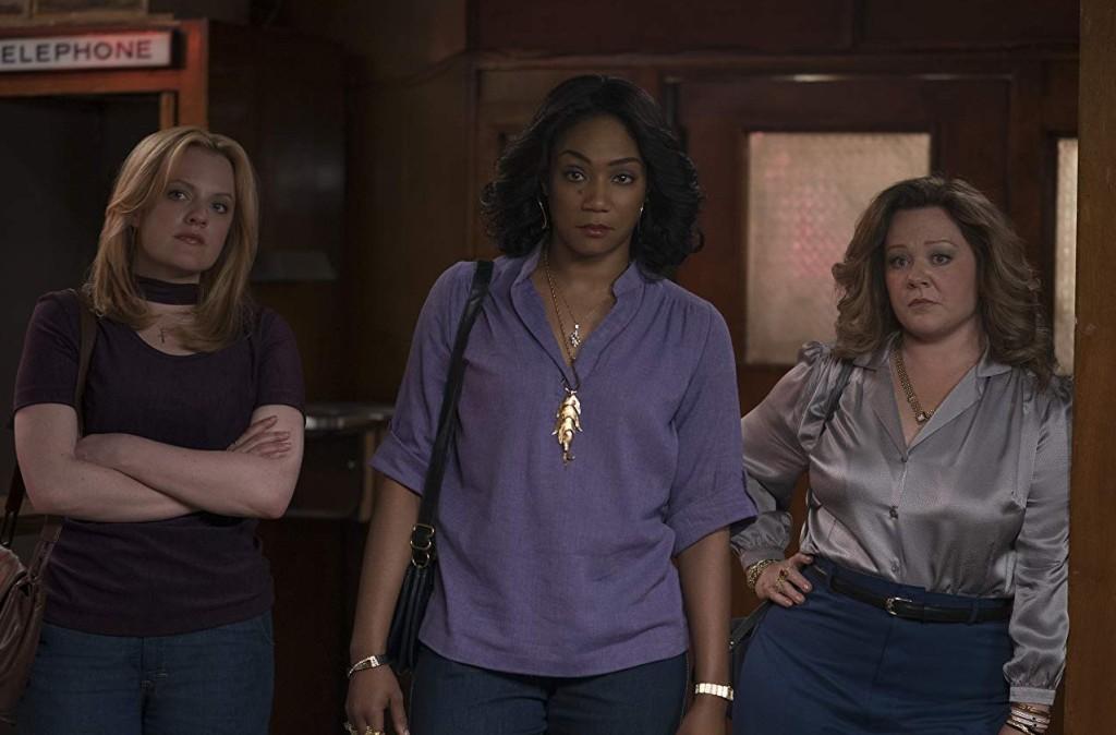 Elisabeth Moss, Tiffany Haddish and Melissa McCarthy in The Kitchen