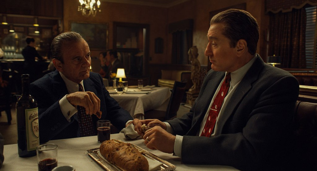 Joe Pesci and Al Pacino in The Irishman