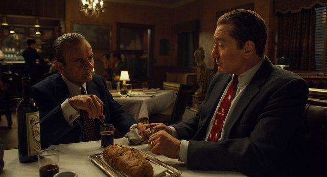Joe Pesci and Al Pacino in The Irishman