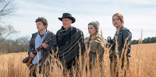 Jesse Eisenberg, Woody Harrelson, Abigail Breslin and Emma Stone in Zombieland Double Tap