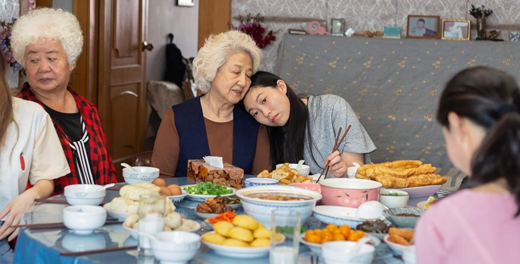 Zhao Shuzhen and Awkwafina in The Farewell