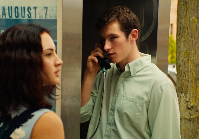 Grace Van Patten and Callum Turner in Tramps