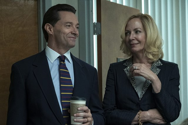 Hugh Jackman and Allison Janney in Bad Education