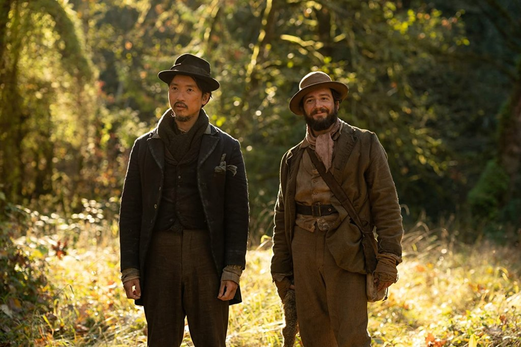 Orion Lee and John Magaro in First Cow