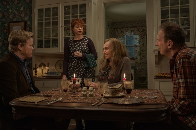 Jesse Plemons, Jessie Buckley, Toni Collette and David Thewlis in I'm Thinking of Ending Things