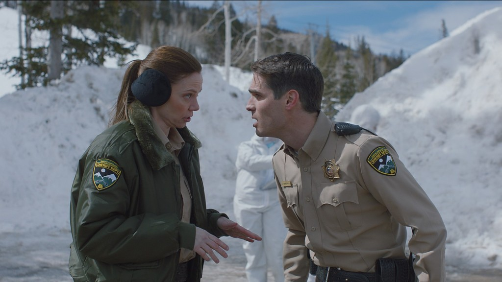 Riki Lindhome and Jim Cummings in The Wolf of Snow Hollow
