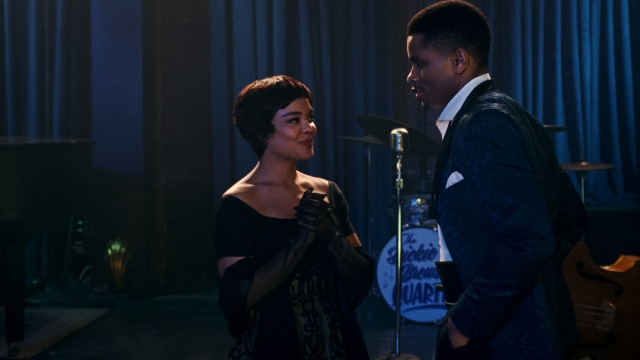 Tessa Thompson and Nnamdi Asomugha in Sylvie's Love