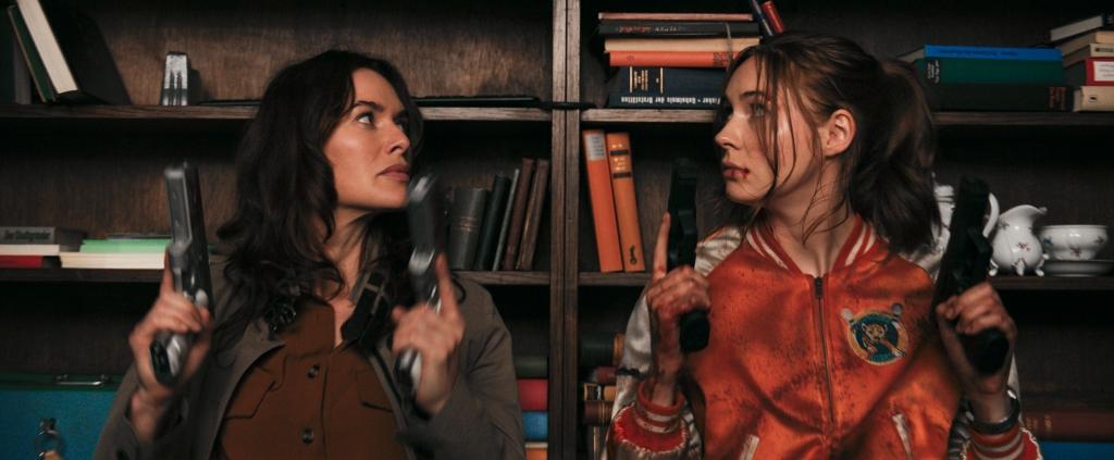 Lena Heady and Karen Gillan in Gunpowder Milkshake